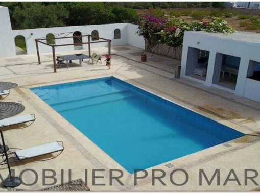 Charmante villa avec piscine, meublée, à 8 Kms d'Essaouira