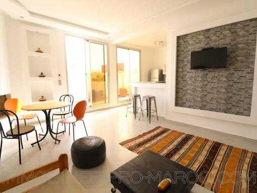 Appartement meublé avec double terrasse attenante