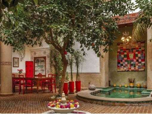 Riad Rénové 530m² en vente à Marrakech ref 6665