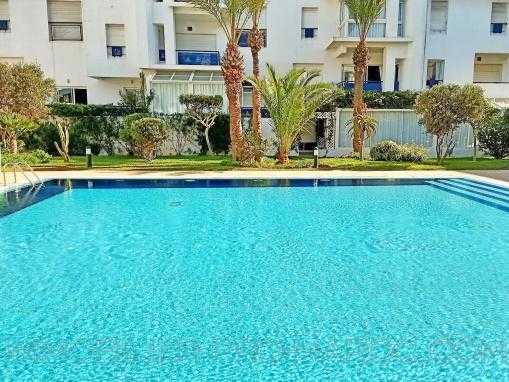 Magnifique Duplex meublé, vu piscine,  dans une résidence au bord de mer