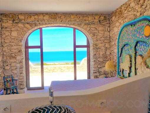 Maison atypique à qlqs min d'Essaouira avec une vue exceptionnelle sur la mer et vallée